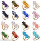 Womens Natural Stone Gold Imitation Crystal Stone Ring Jewelry Gift US 7
