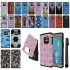 For Samsung Galaxy S6 Edge+ Plus G928 ShockProof HYBRID Rubber Case Cover + Pen