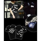 New Unisex Angel Wings LED Flashing Light T-shirt Nightclub Party Tops Blouse