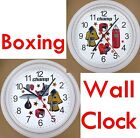 BOXING Wall CLOCK Boxer Box Gloves Bag Ring Ropes Punch Knock Out Fist Hook NEW