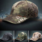 Men Camouflage Military Adjustable Hat Camo Hunting Fishing Army Baseball Cap HF