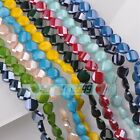 10pcs 14mm Twist Coin Faceted Glass Porcelain Color Loose Charms Beads