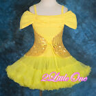 Sequined Pettidress Dancewear Dress Pettiskirt Pageant Party Gold Girl 2T-9 #107