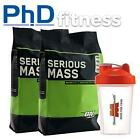 2 x Optimum Nutrition Serious Mass 5.4kg + FREE Shaker