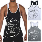 New Gym Singlets -Men Tank Top for Bodybuilding and Fitness vest Shirt T-shirt A