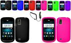 Car Charger+Any Silicone Case Skin For Tracfone/Net10 ZTE Midnight Z768G Phone