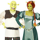 Shrek Adults Fancy Dress Ogre Princess Prince Mens Ladies Fairytale Costume New