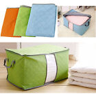 LARGE CLOTHES STORAGE BAG BOX QUILT BEDDING DUVET LAUNDRY PILLOWS ZIPPED HANDLES