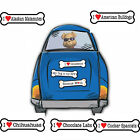"I Heart Love Dogs Dog Breed 2"" x 7"" Bone Shaped Car Magnets  3"