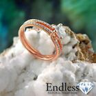 Round Diamond Engagement Ring Size 6 14k Rose Gold 1.1 TCW VS-SI F-G Enhanced