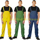 Waterproof Bib & Brace Mens Protective Rain Wet Work Trouser Dungarees Fishing