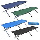 HEAVY DUTY ALUMINIUM SINGLE FOLDING CAMP CAMPING GUEST BED OURDOOR TRAVEL + BAGS