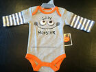 """NWT Baby HALLOWEEN One Piece Bodysuit/Creeper  """"Silly Monster"""" • Choose Size"""