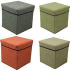 Home Fashion FOLDABLE STORAGE BOX STOOL Seat Cube Box Folding Container