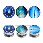3 Pairs Fashion Steel Ear Plugs Tunnels Gauges Stretchers Expanders 6G-5/8''