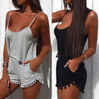 Sexy Women's Summer Club Strap Playsuit Party Jumpsuit&Romper Shorts Trousers