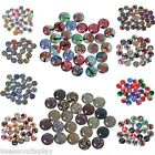 10PCs Round Clear Embellishment Colour Random Diy Jewelry 10mm M12306