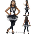 CK794 Skeleton Skeletons Tutu Girls Costume Skull Halloween Fancy Dress Outfit