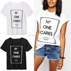 New Fashion Womens Summer Tops Loose Tee Short Sleeve T shirt Casual Blouse B20E