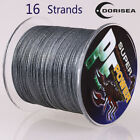 16 Strands 100M-2000M 20LB-300LB Gray Hollow pe Dyneema Braided Fishing Lines