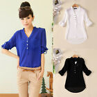 PLUS SIZE Womens Loose Casual WORK Shirts Loose Blouse Ladies Tee Tops S~3XL NEW