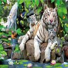 WHITE TIGER FAMILY IN JUNGLE COASTERS  SET U PICK SET SIZE