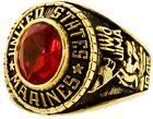 New Women's US Marines 18Kt Gold Plated Ring Sizes 5-10