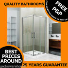 760mm Corner Entry Shower Enclosure Glass Screen Cubicle Sliding Door, Chrome