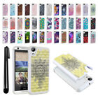 For HTC Desire 626 626S Anti Shock Studded Bling HYBRID Case Phone Cover + Pen
