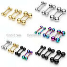 16g Stainless Steel Cartilage Tragus Stud Earring Bar Barbell Ear/Lip/ Nose Ring