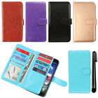 For ZTE Grand X3 Z959 N9519 Leather Magnetic Card Holder Wallet Cover Case + Pen