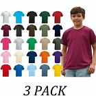 3-PACK-Fruit Of The Loom tshirts Tops-Kids Original T Shirt