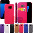 Diamond Leather Credit Card Slot Wallet Flip Phone Case Cover For Samsung S7