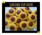 Rustic Sunflower Bridal Shower Favors Wedding Party Scented Soaps Pack of 25
