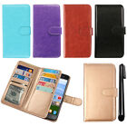 For Huawei Raven LTE H892L Leather Magnetic Card Holder Wallet Cover Case + Pen