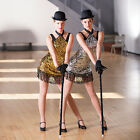In Stock LIMITED EDITION Gold Sequin Jazz Tap Modern Dress All Sizes