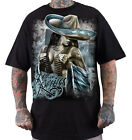 "DYSE ONE Clothing Kalifornien "" LA REINA "" T-Shirt Tee black / schwarz"