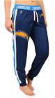 KLEW NFL Women's San Diego Chargers Cuffed Jogger Pants, Blue