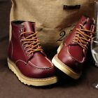 hot New Men High Top Wedge Sole Soft Toe Lace-up Work Military Ankle Boots Shoes