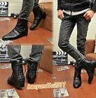 HOT Fashion Men Lacing Zipper Casual Shoes High-top Ankle Pointed Toe Boots