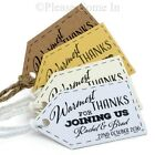 Personalised Warmest Thanks for Joining Us Little Arrow (L) Wedding Favour Tags