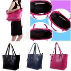 Women's Synthetic Leather Carryall Tote Shoulder Bag with Purse Organizer