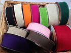 ELEGANZA Natural Hessian Wire Edged Ribbon - var lengths/colours - 32 50 & 70mm