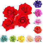 Hot Women Rose Flower Hair Clip Flamenco Dancer Pin up Wedding Brooch 14 Colours