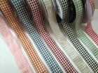 Berisfords Essentials  - Natural GINGHAM Ribbon - 15 & 25mm- 8 Shades. 4 lengths
