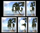 TROPICAL BEACH PALM TREES PARADISE  #25  LIGHT SWITCH COVER PL U PICK PLATE SIZE