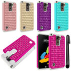 For LG Stylus 2 LS775 K520 Stylo 2 Luxury HYBRID Bling Case Phone Cover + Pen