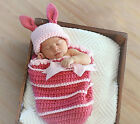 Infant Baby Girl Boy Rabbit Crochet Knit for 0-4Month Costume Photography Prop