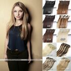 AAA Grade 7pc Clip In Real Human Hair Extensions Black Brown Blonde Mix Hot New