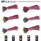 10 30 50 Pre Wired 9-12V 1.8mm Diffused Water Clear LED Diodes White Red Light